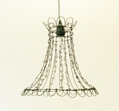 Unique Curly Wire Art Open Design Lampshade by SassytrashAntiques