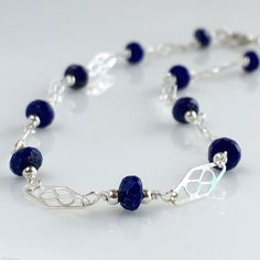 Ankle Bracelet, Silver Anklet, Lapis Lazuli Ankle Bracelet, Sterling Silver Lapis Lazuli Anklet, Gift Ideas for Women, Gift Ideas for Her, Sterling Silver Everyday Anklet. Sterling silver anklet with beautiful blue faceted lapis lazuli. This sterling silver anklet can be sized as needed. Please measure your ankle and add 1/2 inch to determine the right size of the anklet. I will get as close as possible to this length. Please contact me if you need another length.