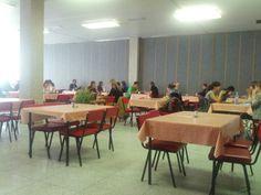 University canteen close to Vinařská halls of residence. Cheap meals.