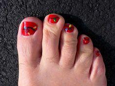 christmas toe nail easy | ... Style of Christmas Nail Art : Simply Design Of Christmas Toe Nail Art
