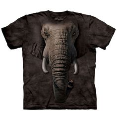Elephant Face T-Shirt Adult