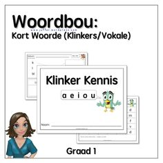 Woordbou met Klinkers/Vokale: 70+ Werksvelle Worksheets For Kids, Teacher, Afrikaans, School, A4, Printables, Life, Professor, Activity Sheets For Kids