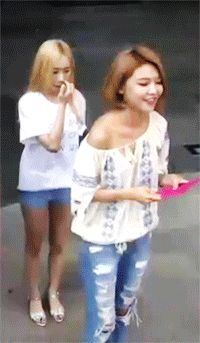 Taeyeon and Sooyoung GIF