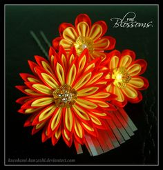Fire Blossoms by Kurokami-Kanzashi on DeviantArt