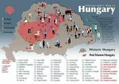 Ethnographic Map of Hungary Fortune Telling Cards, Hungarian Embroidery, Central Europe, Budapest Hungary, My Heritage, Cartography, World War I, France, Roots