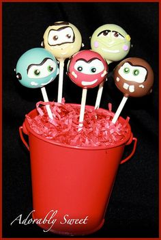 CARS Cake Pop: Crew from Radiator Springs by adorablysweetcakepops, via Flickr