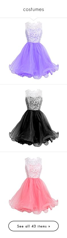 """costumes"" by simpsonizer0718 ❤ liked on Polyvore featuring dresses, purple dress, homecoming dresses, homecoming party dresses, cocktail homecoming dresses, graduation dresses, vestidos, short dresses, short cocktail party dresses and black dress"