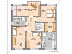 Kern-Haus Stadtvilla Centro W Grundriss Obergeschoss