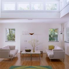 Clerestory windows...hmm...These will work in the master bedroom...