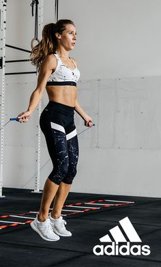 Dedication will always be in. Through any cardio workout, be sure to wear gear that hugs your body and maintains support in the right ways. This look offers a fitted fit and Climacool to stay put and keep you cool and dry with each move. Click through to learn more.