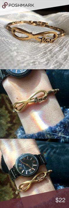Alex and Ani Infinity Love Wrap Bracelet- Gold Perfect condition! Alex and Ani Jewelry Bracelets