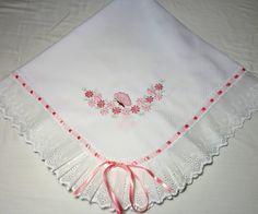 Manta De Piquet Borboletinha (rosa) | BabyQuer Enenxoval | Elo7