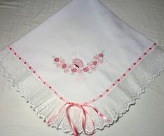 Manta De Piquet Borboletinha (rosa) | BabyQuer Enxoval | Elo7