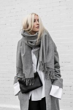 Looking so cozy wrapped up in layers.