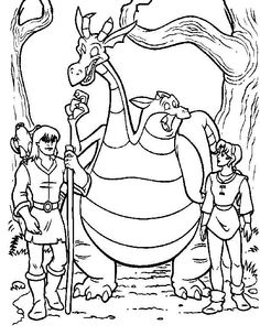 The Magic Sword: Quest for Camelot Coloring pages for kids. Printable. Online Coloring. 11