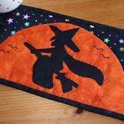 Halloween Witch Mug Rug - via @Craftsy
