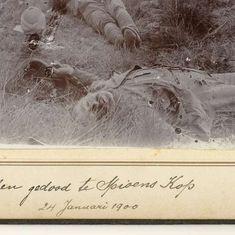 Engelse slachtoffers van de strijd bij Spionkop in Zuid-Afrika, anonymous, 1900 - Search - Rijksmuseum War
