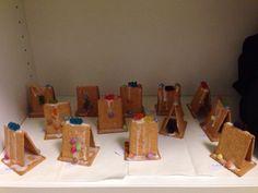 Weihnachtsgeschenke mit Kindern basteln. Keks - Häuschen