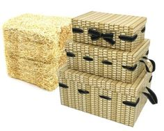 16 x Rectangular Cardboard Hamper Kit