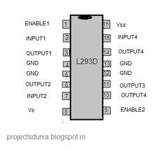pin diagram of L293D