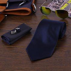 Men's Ties, 8 Colors Casual Slim Solid Set fashion