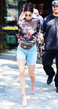 Kendall Jenner Just Braved 4 of the Most-Feared Fashion Trends at Once via @WhoWhatWearUK