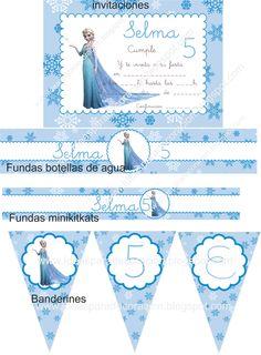 Ideas para la decoración de Fiestas Infantiles: Kit imprimible Frozen