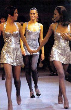1992 - Azzedine Alaia Show (Veronica Webb, Yasmin LeBon and Naomi Campbell)