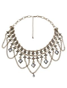 Limited Gold Diamante Collar Necklace