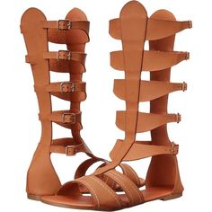 C Label Goliath-1 (Tan) Women's Sandals ($20) ❤ liked on Polyvore featuring shoes, sandals, tan, greek sandals, tall gladiator sandals, strappy shoes, gladiator sandals and tan sandals