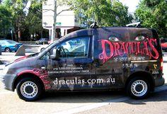 dracula's, themed wrap, night theatre