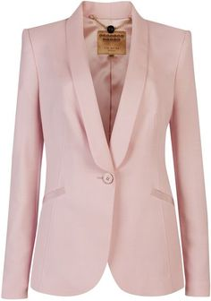 Ted Baker Jayne Tuxedo Suit Jacket in Pink. Blazer And Shorts, Blazer Jacket, Suit Vest, Suits For Women, Jackets For Women, Clothes For Women, Uniqlo Women Outfit, Pink Tuxedo, Tuxedo Coat