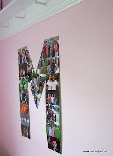 Dorm Room Decor -Monogram Photo Collage