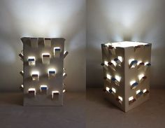 Lamp shade. Citadel. Ceramic hand made statue with hidden light fixture. sculpture