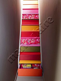 multi-colored stairs