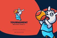 Basketball Rabbit Mascot Logo by Artnivora.Std on @creativemarket