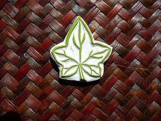 Rubber Stamp Ivy Leaf Hand Made Leaf Stamp Design by DevonArtist