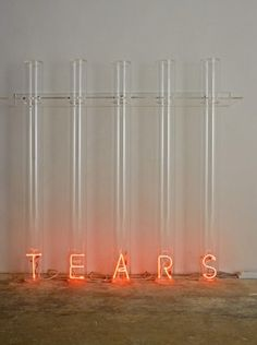 Tears, 2007 meth-acrylate and luminous neon cm. 134 x 140 x 31,5