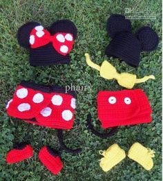 christmas crochet girl   /lot Baby Crochet hats sets Santa Parking dear children's baby girls ...