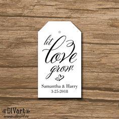 Rustic Wedding Favor Tag, Wedding Thank You Tag, Hang Tag, Favor Tag - PRINTABLE file - country wedding, elegant calligraphy - Charlotte by DIVart on Etsy
