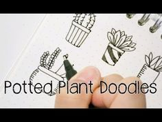 Doodle with Me : Potted Plant Doodles V.2 - YouTube
