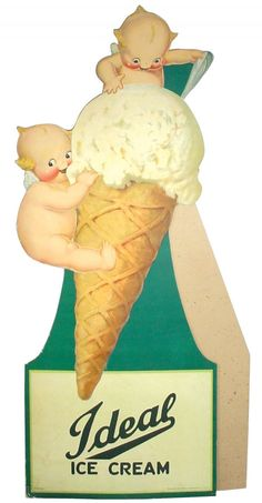 Soda fountain Rose O'Neill Ideal Ice Cream Kewpie
