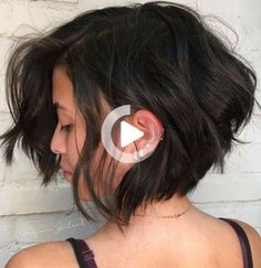 #39: Messy Choppy Layered Bob Short haircuts for thick wavy hair look even more snazzy and chic when they're choppy and disheveled. The wavy pieces are strategically layered to build the height and fullness. If you have coarser hair, you can style this cut to work with your natural texture. The solid dark brown hair … #shortsummerhairstyles Layered Bob Short, Coarse Hair, Short Haircuts, Natural Texture, Summer Hairstyles, Wavy Hair, Hair Looks, Brown Hair, Dark Brown
