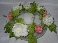 art. 139 copon con rosas, camelias y velas