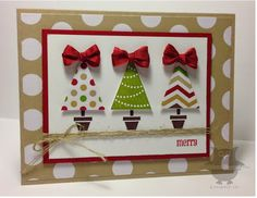 Season of Style dsp, Pennant Parade stamp set, Old Olive ink, Cherry Cobbler cs, ink & seam binding, linen thread, Early Espresso ink