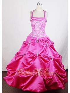 Buy embroidery beaded halter hot pink little girls pageant dresses from little girl pageant dresses collection, halter top ball gowns in hot pink color,cheap floor length taffeta dress with lace up back and for pageant birthday party . Beauty Pageant Dresses, Little Girl Pageant Dresses, Flower Girl Dresses, Pink Dresses For Kids, Girls Formal Dresses, Prom Dresses, Pagent Dresses For Kids, Pretty Dresses, Beautiful Dresses