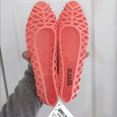 NWT AA jelly flats Never worn only tried on American Apparel Shoes Flats & Loafers