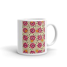 Whether youre drinking your morning coffee, evening tea, or something in between – this mugs for you! Its sturdy and glossy with a vivid print thatll withstand the microwave and dishwasher. Morning Coffee, Handmade Items, Ceramics, Mugs, Tableware, Etsy, Ceramica, Pottery, Dinnerware