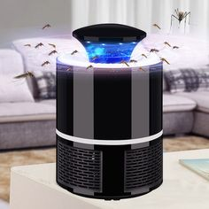 USB Electric mosquito killer Lamp Photocatalysis mute home LED bug zapper insect trap. Are you sick and tired of mosquitos? Then you need this USB electric mosquito killer Lamp. Keep bugs at bay with this cool looking lamp that's also a mosquito killer Anti Mosquito, Indoor Mosquito Trap, Mosquito Killer, Mosquito Zapper, Aerosoles, Bug Zapper, Geek Gadgets, Clever Gadgets, Led Lamp