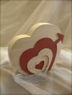 wooden heart puzzle